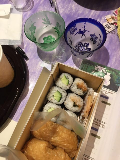 日本酒とお弁当