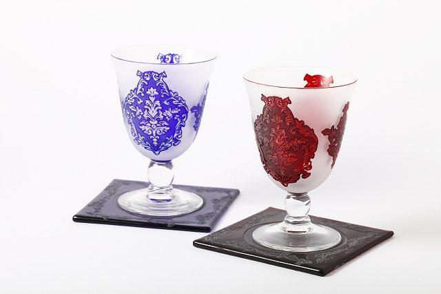 サンドブラストのワイングラス