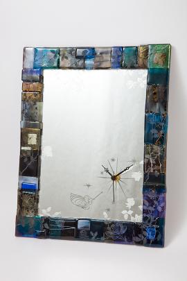 ブルズアイ・ラスターガラスの鏡時計