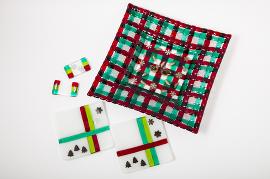 ブルズアイ・クリスマス大皿&小皿&箸置きのセット