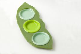 ブルズアイ・3点盛り皿(自作モールド)2