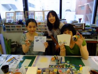 消しゴムスタンプレッスンを開催しました -東京新宿の陶芸教室 プロップスアートスクールで陶芸体験-の画像