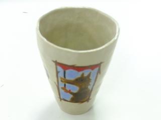 陶芸*カップの中に・・ -東京新宿の陶芸教室 プロップスアートスクールで陶芸体験-の画像