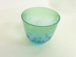 サンドブラスト*被せグラス -東京新宿の陶芸教室 プロップスアートスクールで陶芸体験-の画像