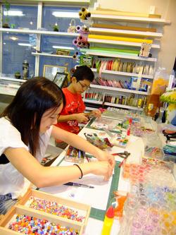 フュージング体験レッスン -東京新宿の陶芸教室 プロップスアートスクールで陶芸体験-の画像