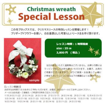 クリスマスリース☆特別レッスン ※終了いたしました -東京新宿の陶芸教室 プロップスアートスクールで陶芸体験-の画像