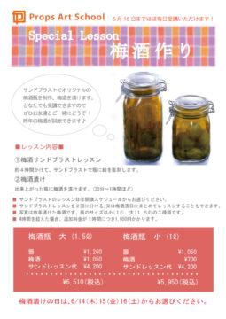 2012年梅酒作り特別レッスン☆終了しました -東京新宿の陶芸教室 プロップスアートスクールで陶芸体験-の画像