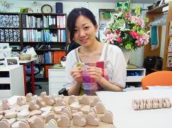結婚❤プチプレゼント作り❤ -東京新宿の陶芸教室 プロップスアートスクールで陶芸体験-の画像