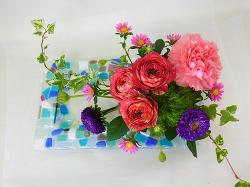 7月後半フラワーレッスン -東京新宿の陶芸教室 プロップスアートスクールで陶芸体験-の画像