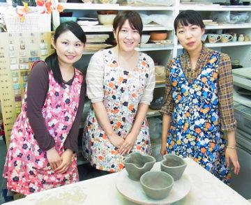 お友達同士で☆陶芸体験レッスン! -東京新宿の陶芸教室 プロップスアートスクールで陶芸体験-の画像