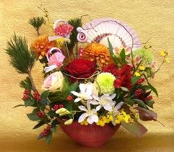 お正月生花アレンジメント特別レッスン -東京新宿の陶芸教室 プロップスアートスクールで陶芸体験-の画像