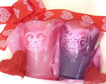 バレンタイン・サンドブラスト特別レッスン⇒まだ制作いただけます! -東京新宿の陶芸教室 プロップスアートスクールで陶芸体験-の画像