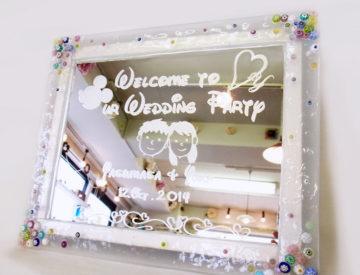 フュージングとサンドブラストで作る★ウェルカムボード -東京新宿の陶芸教室 プロップスアートスクールで陶芸体験-の画像
