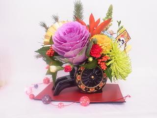 お正月生花アレジメント -東京新宿の陶芸教室 プロップスアートスクールで陶芸体験-の画像