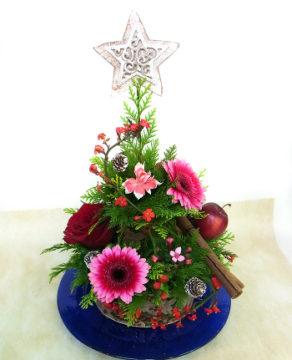 クリスマスアレンジ -東京新宿の陶芸教室 プロップスアートスクールで陶芸体験-の画像