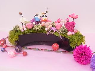 ひな祭りプリザーブドアレンジ -東京新宿の陶芸教室 プロップスアートスクールで陶芸体験-の画像