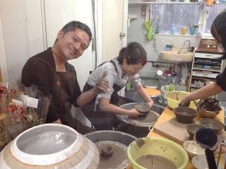 陶芸ロクロ体験(1回)レッスン -東京新宿の陶芸教室 プロップスアートスクールで陶芸体験-の画像